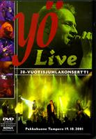 Cover:Yö Live – 20-vuotisjuhlakonsertti (DVD) 2002